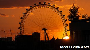 Sunset  London Eye