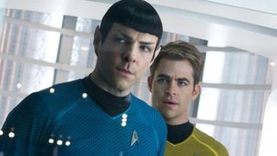 Zachary Quinto and Chris Pine in Star Trek Into Darkness