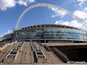 Exterior view of Wembley Stadium