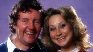 Tom and Barbara (Richard Briars and Felicity Kendal) from The Good Life.