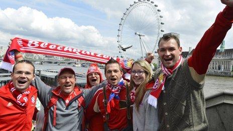 Bayern fans in London