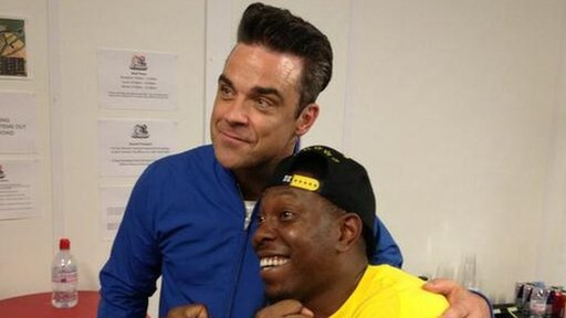 Robbie Williams and Dizze Rascal