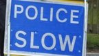 Generic police slow sign
