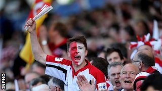 Ulster fans travelled to the RDS final in big numbers