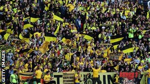 Borussia Dortmund fans at Wembley