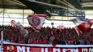 Bayern Munich fans at Wembley