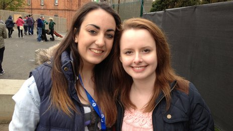 Emily Jamison, 19 (left) and Sarah Curry, 18 (right)