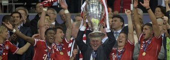Jupp Heynckes lifts the Euroepan Cup