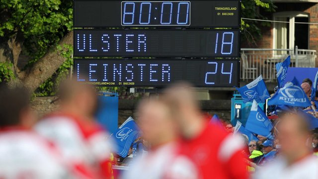 Scoreboard at the final whistle in the RDS in Dublin