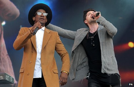 Labrinth and Danny O'Donoghue from The Script