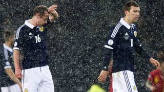 Scotland players Charlie Adam and James McArthur