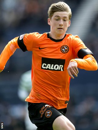 Dundee United midfielder Ryan Gauld