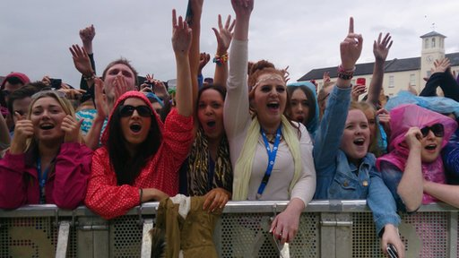 Crowd on third day at Big Weekend