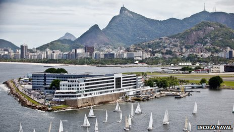 A view of Rio's Naval School