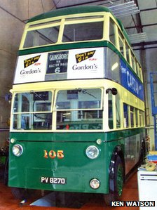 electric trolleybus No.105