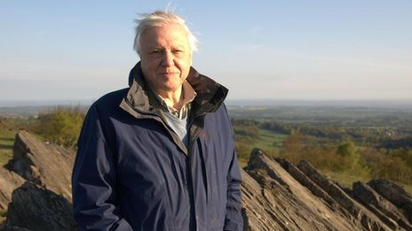 Sir David Attenborough at Charnwood Forest