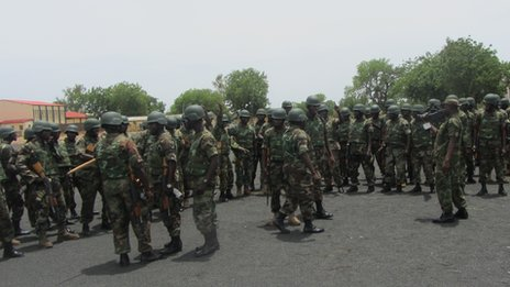 Soldiers in Yola, Adamawa state