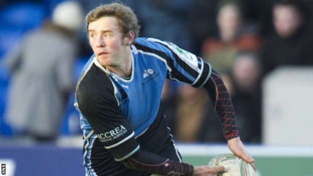 Glasgow Warriors fly-half Scott Wight