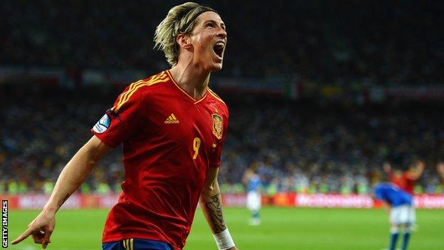 Fernando Torres, Nigeria vs Spain Live