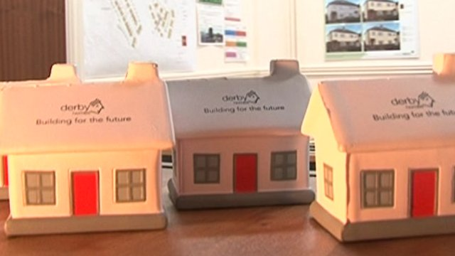 Models of some homes in the developer's office.