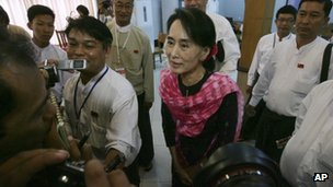 Aung San Suu Kyi on 27 May