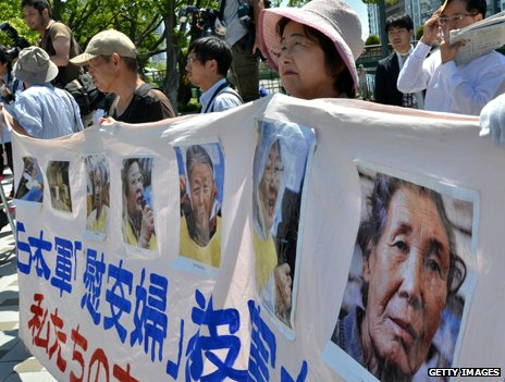2013 protest in Osaka, Japan, in support of the former comfort women