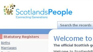 ScotlandsPeople website