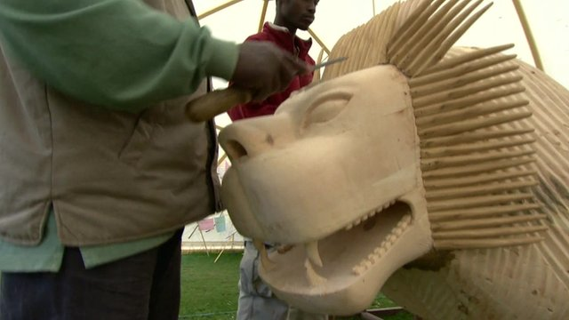 Lion coffin