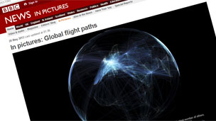 Global flight paths (Monday's story)