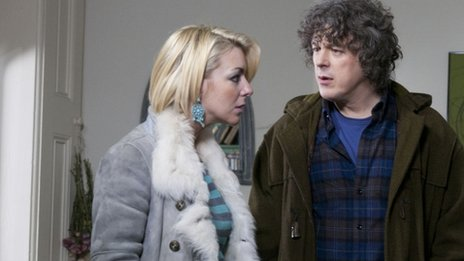 Sheridan Smith and Alan Davies in Jonathan Creek