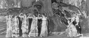 1912 premiere of Ballet Russe's L'Apres-midi d'un Faune