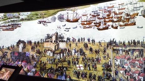 The Cowdray Engraving depicting the Battle of the Solent
