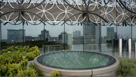 Terrace garden at the Library of Birmingham
