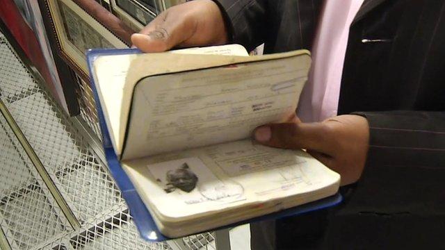 Nelson Mandela's passport