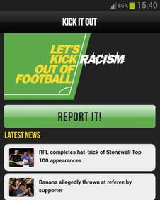 Kick It Out app screenshot