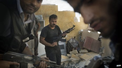 Syrian rebels in Aleppo, 27 May 2013