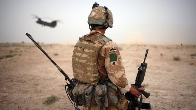 A British Army soldier