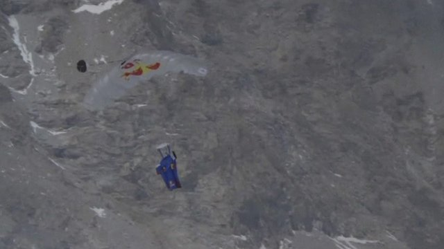 Base jump off Mount Everest