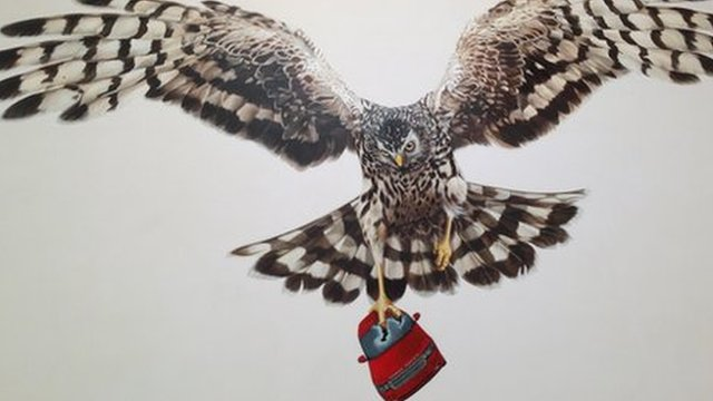 "The Hen Harrier mural is titled ""A Good Day For Cyclists"""
