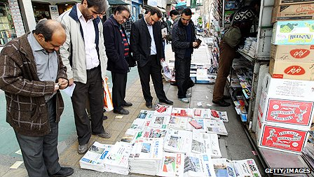News stand in Tehran