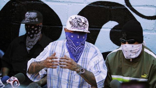 Members of the Mara Salvatrucha gang