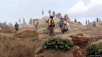 Miners take a break at the Mudere mine in the Democratic Republic of Congo