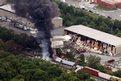 A cargo train derails near Baltimore, USA