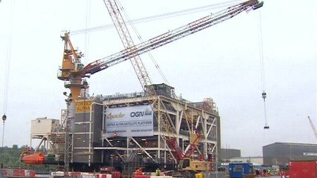 The Apache oil platform on the Tyne