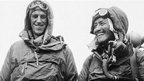 Edmund Hillary from New Zealand and Nepalese Sherpa Tenzing Norgay