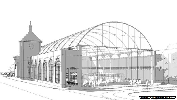 An architect's impression of the museum