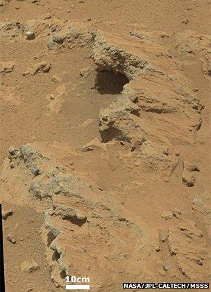 Agua fluyó en Marte