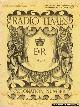 The cover of the Radio Times coronation edition