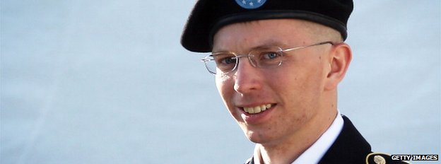 Bradley Manning walking in Fort Meade, Maryland