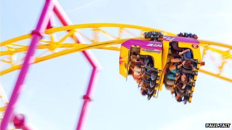 Roller coaster at Adventure Island